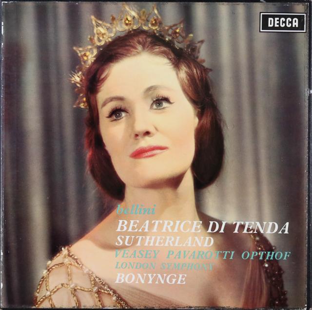 サザーランド&ボニングのベルリーニ/「テンダのベアトリーチェ」 英DECCA 3299 LP レコード