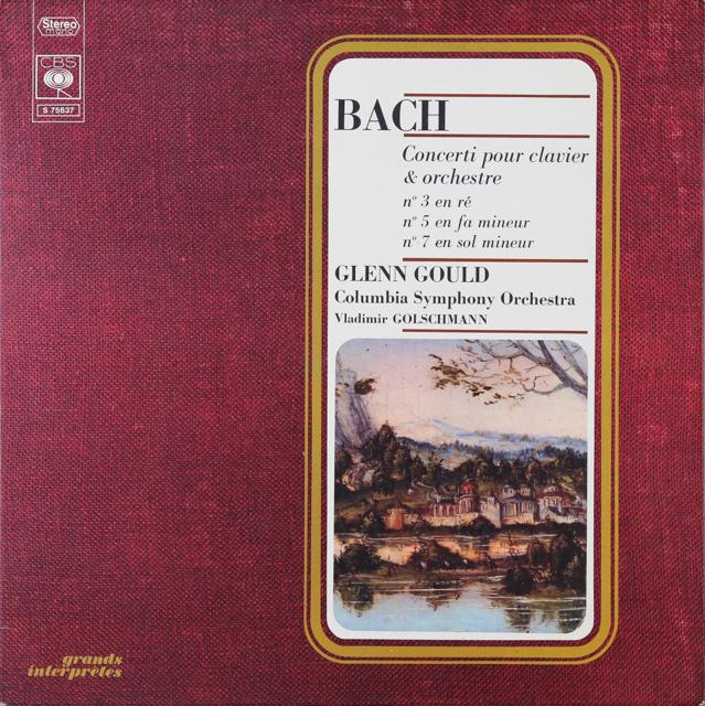 グールドのバッハ/ピアノ協奏曲集 仏CBS 2803 LP レコード