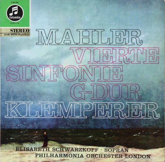 シュヴァルツコップ&クレンペラーのマーラー/交響曲第4番 独Columbia 2804 LP レコード