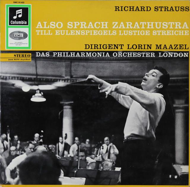 【独最初期盤】 マゼールのR.シュトラウス/「ツァラトゥストラ」&「ティル」 独EMI 3299 LP レコード