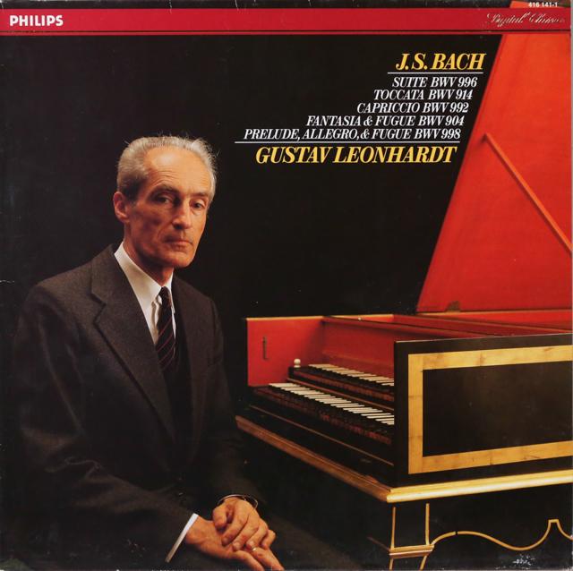 レオンハルトのバッハ/チェンバロ作品集 蘭PHILIPS 2804 LP レコード
