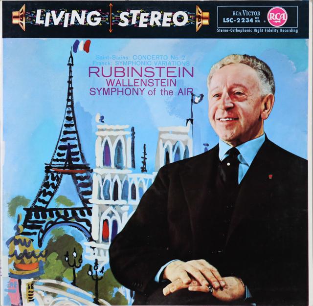 ルービンシュタインのサン=サーンス/ピアノ協奏曲第2番ほか  独RCA 3299 LP レコード