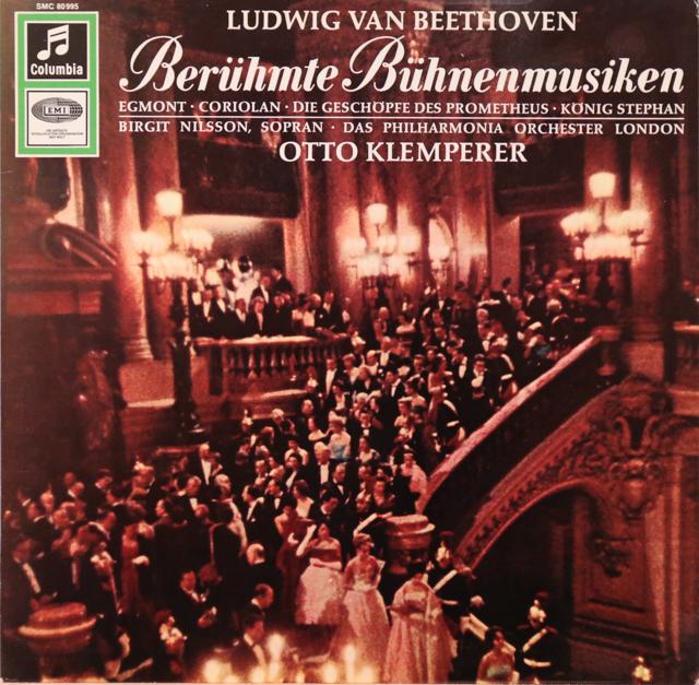 クレンペラー&ニルソンのベートーヴェン/劇音楽「エグモント」序曲とアリア集ほか  独Columbia 3299 LP レコード