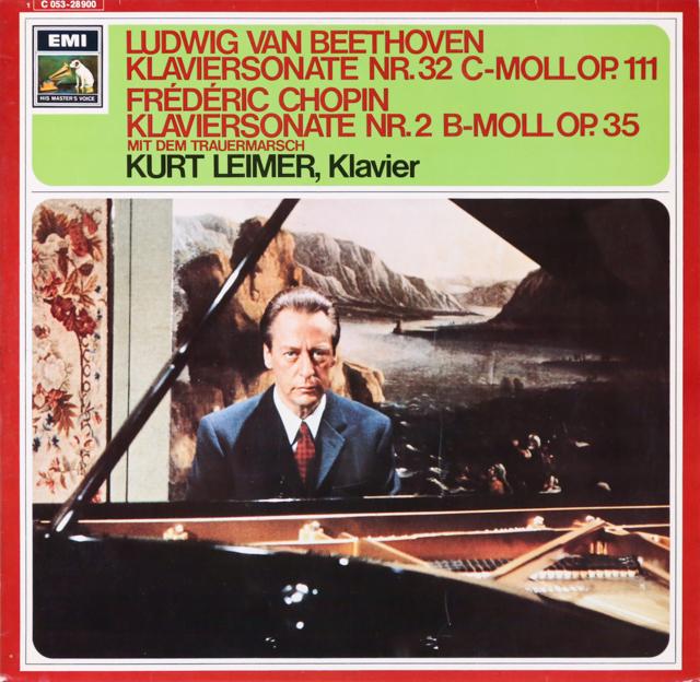 ライマーのベートーヴェン&ショパン/ピアノソナタ集 独EMI 2806 LP レコード