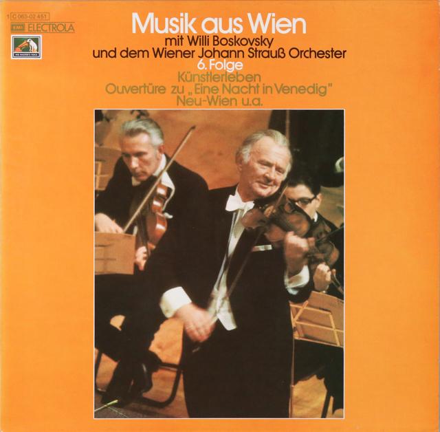 ボスコフスキーのウィーンの音楽 第6集 独EMI 3299 LP レコード