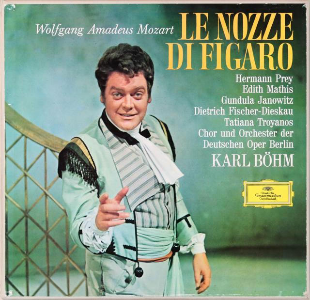 ベームのモーツァルト/「フィガロの結婚」(ヤノヴィッツのサイン入り) 独DGG 2806 LP レコード