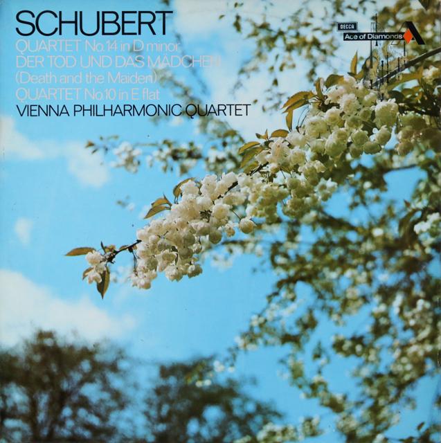 ウィーンフィル四重奏団のシューベルト/弦楽四重奏曲「死と乙女」ほか 英DECCA 2808 LP レコード