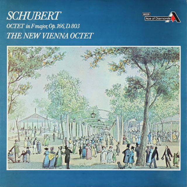 新ウィーン・オクテットのシューベルト/八重奏曲ヘ長調 英DECCA 2808 LP レコード