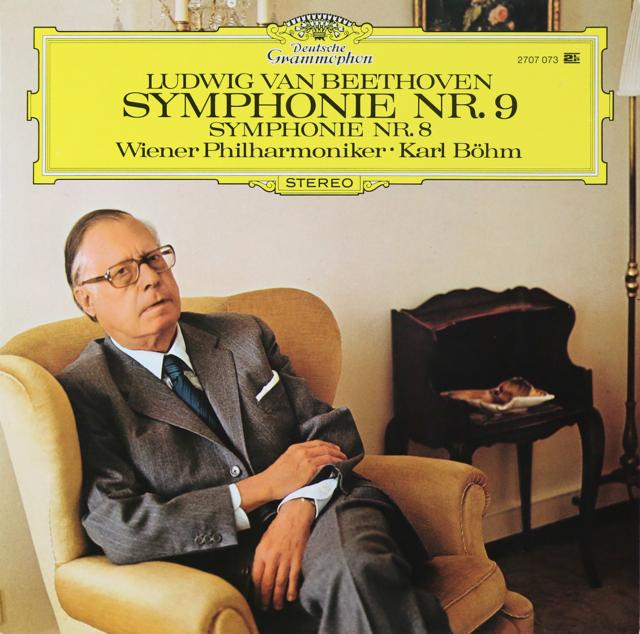 ベームのベートーヴェン/交響曲第8&9番「合唱付き」 独DGG 2808 LP レコード