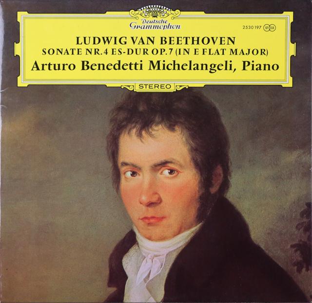ミケランジェリのベートーヴェン/ピアノソナタ第4番 独DGG 2808 LP レコード