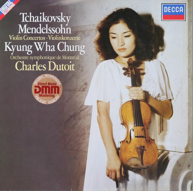 チョン&デュトワのチャイコフスキー&メンデルスゾーン/ヴァイオリン協奏曲 独DECCA 2808 LP レコード
