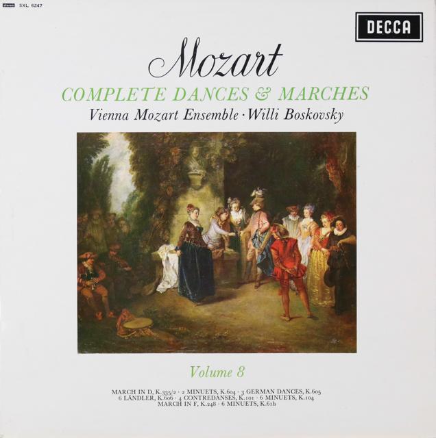 ボスコフスキーの「モーツァルト/舞曲と行進曲全集」(8) 英DECCA 3299 LP レコード