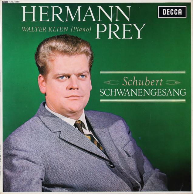 プライのシューベルト/「白鳥の歌」 オリジナル盤 英DECCA 2805 LP レコード