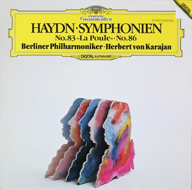 カラヤンのハイドン/交響曲第83番「めんどり」&第86番 独DGG 2805 LP レコード