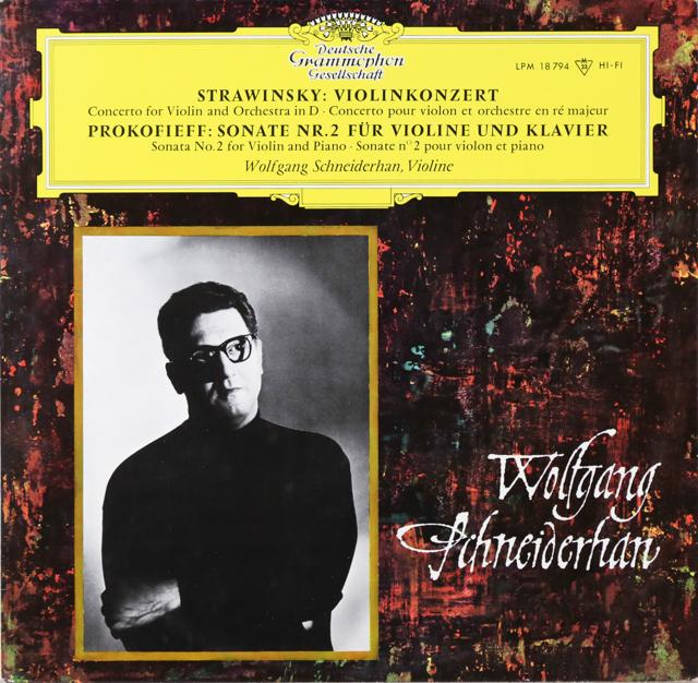 シュナイダーハンのストラヴィンスキー/ヴァイオリン協奏曲ほか 独DGG 3299 LP レコード