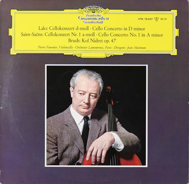 フルニエ&マルティノンのラロ/チェロ協奏曲ほか 独DGG 3299 LP レコード