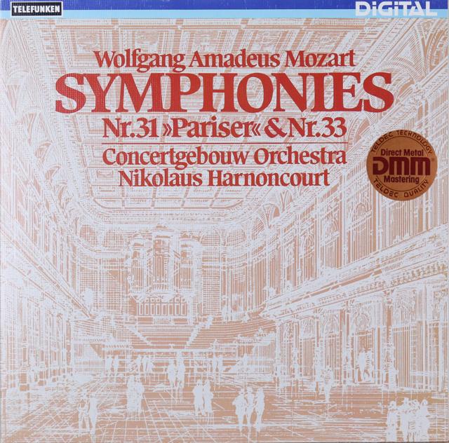 アーノンクールのモーツァルト/交響曲第31番「パリ」&33番 独TELEFUNKEN 3299 LP レコード