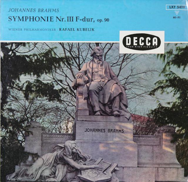 クーベリックのブラームス/交響曲第3番 独DECCA 2807 LP レコード