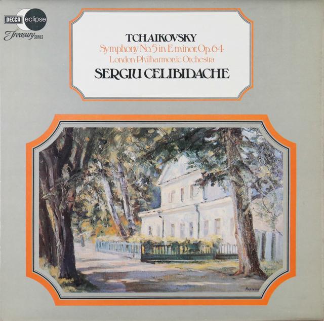 チェリビダッケのチャイコフスキー/交響曲第5番 英DECCA 3299 LP レコード