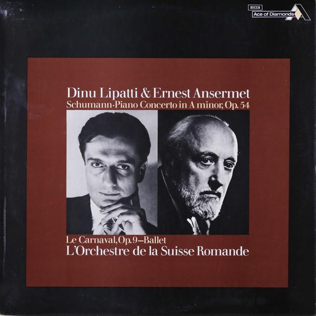 リパッティ&アンセルメのシューマン/ピアノ協奏曲ほか 英DECCA 3299 LP レコード