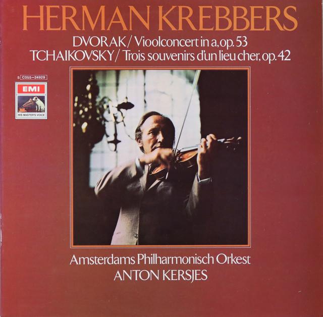 クレッバースのドヴォルザーク/ヴァイオリン協奏曲ほか 蘭EMI 3299 LP レコード