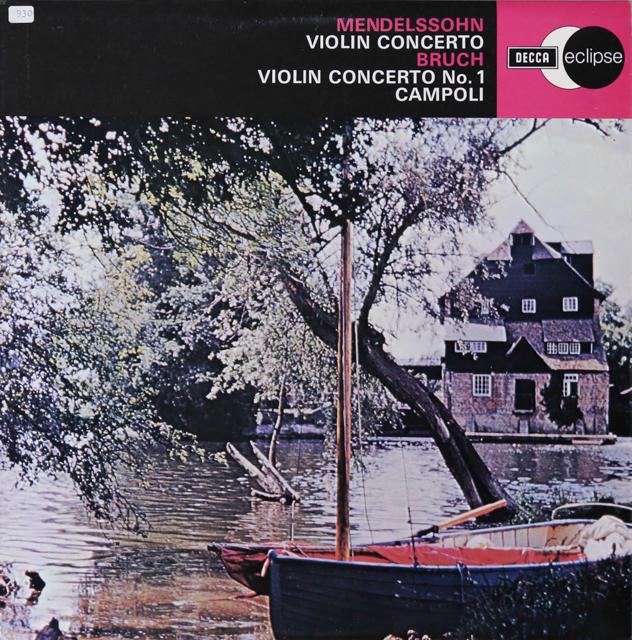 カンポリ&ベイヌムらのメンデルスゾーン/ヴァイオリン協奏曲ほか 英DECCA 3299 LP レコード