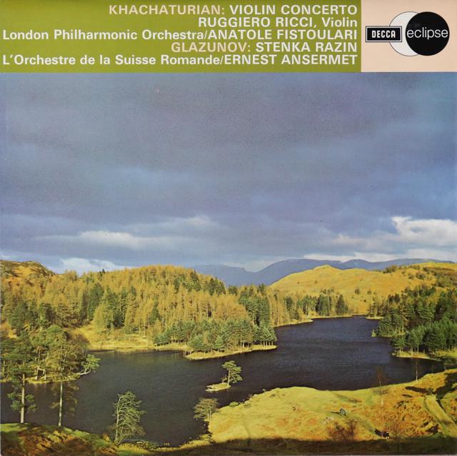 リッチのハチャトゥリアン/ヴァイオリン協奏曲ほか 英DECCA 3299 LP レコード