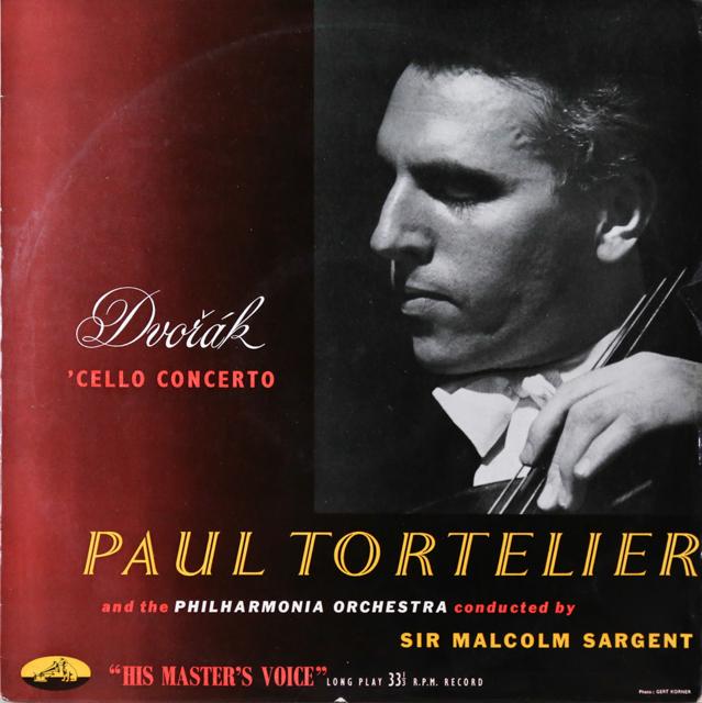 トルトゥリエ&サージェントのドヴォルザーク/チェロ協奏曲 英EMI 2807 LP レコード