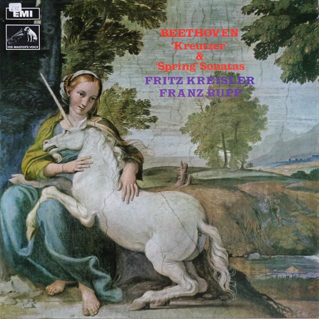 クライスラー&ルップのベートーヴェン/ヴァイオリンソナタ「クロイツェル」&「春」 英EMI 3299 LP レコード