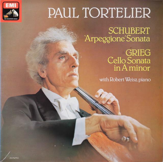 トルトゥリエのシューベルト&グリーグ/チェロソナタ集 英EMI 2807 LP レコード