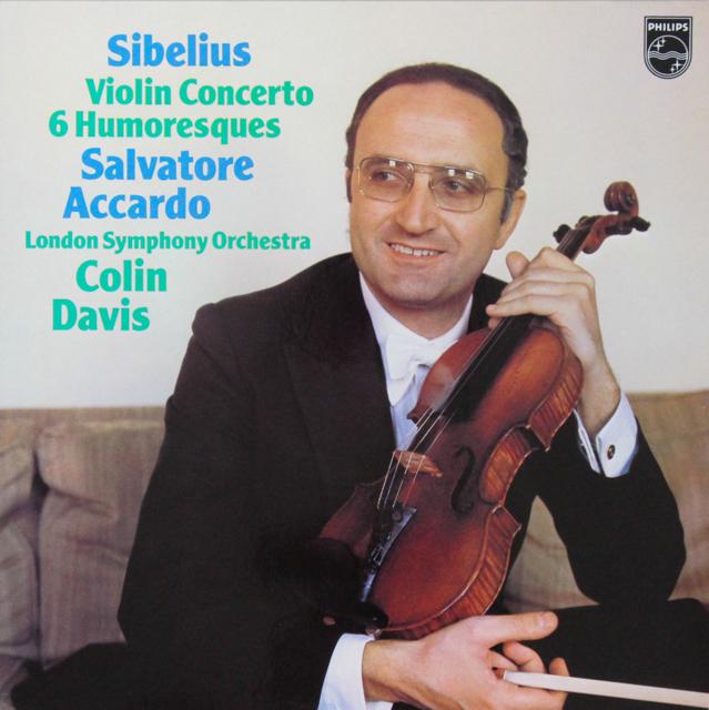 アッカルドのシベリウス/ヴァイオリン協奏曲ほか 蘭PHILIPS 2815 LP レコード