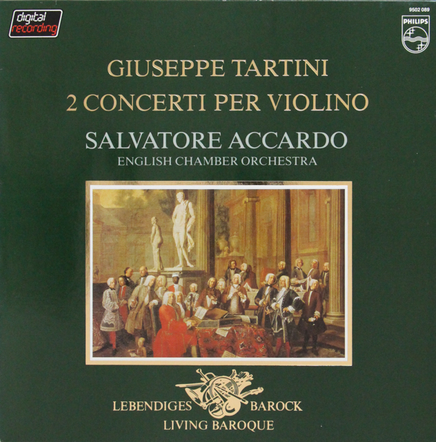 アッカルドのタルティーニ/ヴァイオリン協奏曲集 蘭PHILIPS 2815 LP レコード