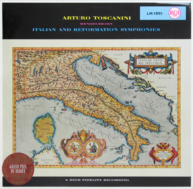 トスカニーニのメンデルスゾーン/交響曲第4番「イタリア」&第5番「宗教改革」 独RCA 2815 LP レコード