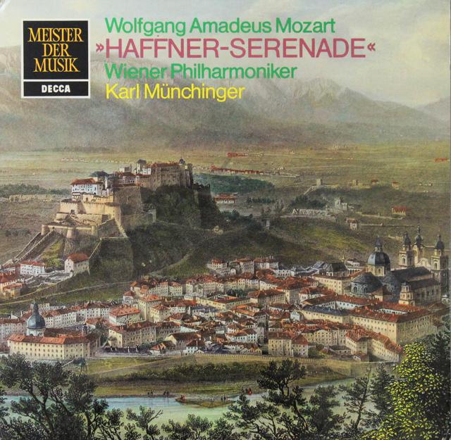 ミュンヒンガーのモーツァルト/ハフナー・セレナード 独DECCA 2815 LP レコード