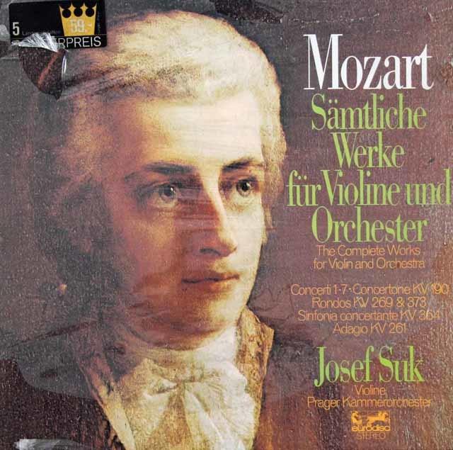 【未開封】 スークのモーツァルト/ヴァイオリン協奏曲全集 独Eurodisc 3037 LP レコード