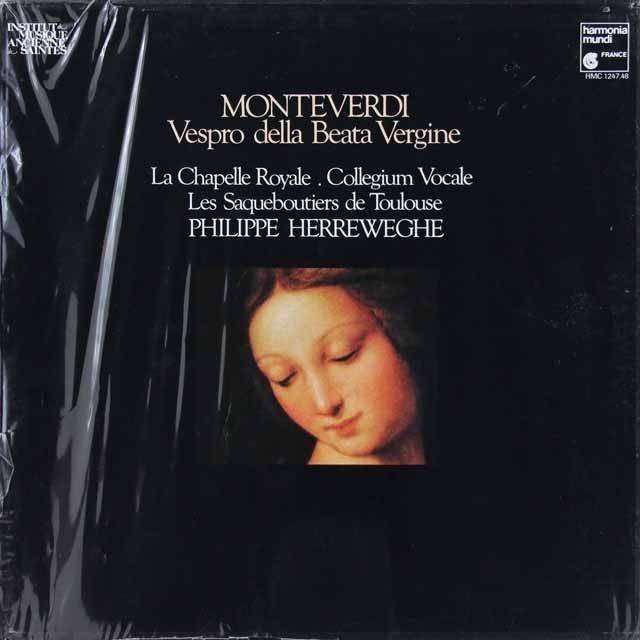 【未開封】 ヘルヴェッへのモンテヴェルディ/聖母マリアの夕べの祈り 仏HM    3037 LP レコード