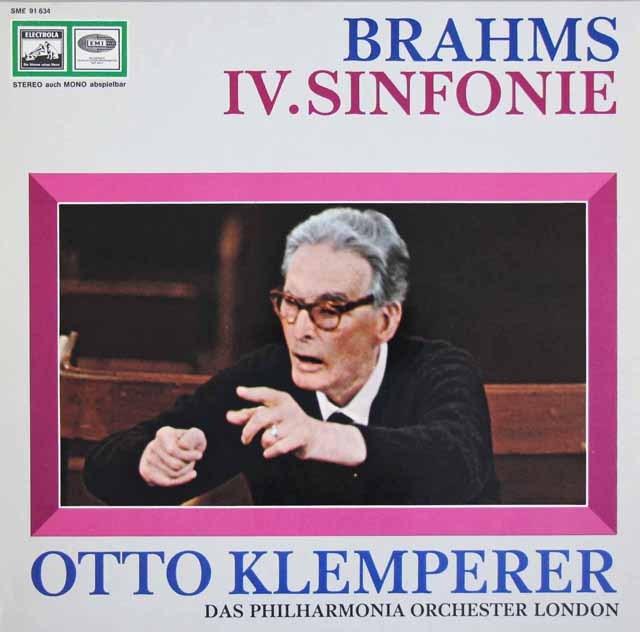 クレンペラーのブラームス/交響曲第4番 独EMI 3297 LP レコード