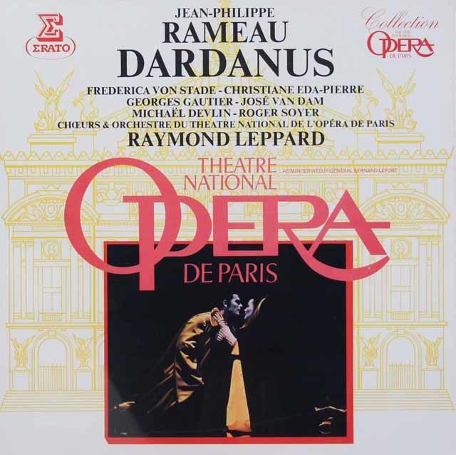 【未開封】 レッパードのラモー/歌劇『ダルダニュス』全曲   仏ERATO 3037 LP レコード