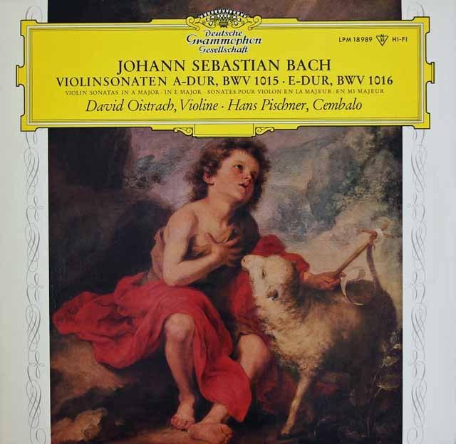 【モノラル】 オイストラフ&ピシュナーのバッハ/ヴァイオリンとチェンバロのためのソナタ第2&3番 独DGG 3296 LP レコード