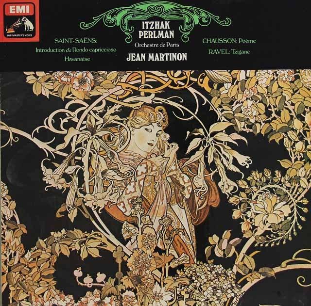 パールマン&マルティノンのラヴェル/ツィガーヌほか 英EMI オリジナル盤 2827 LP レコード