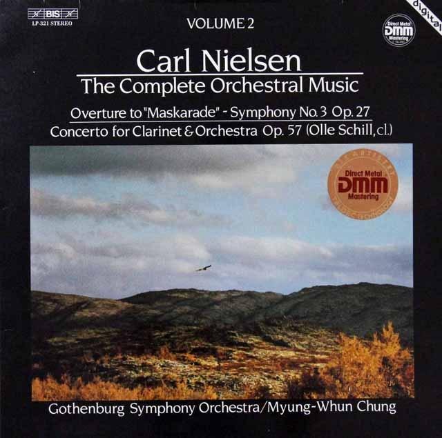 チョンのニールセン/交響曲第3番ほか 独BIS 3298 LP レコード