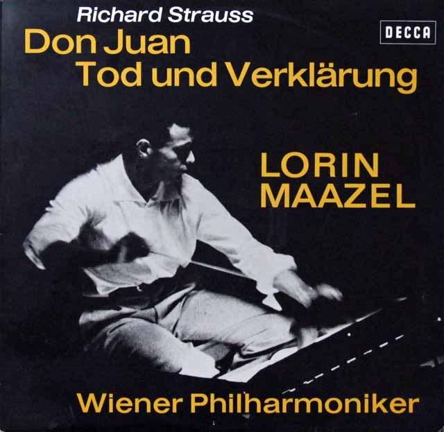 マゼールのR.シュトラウス/「ドン・ファン」&「死と浄化」 独DECCA 3298 LP レコード
