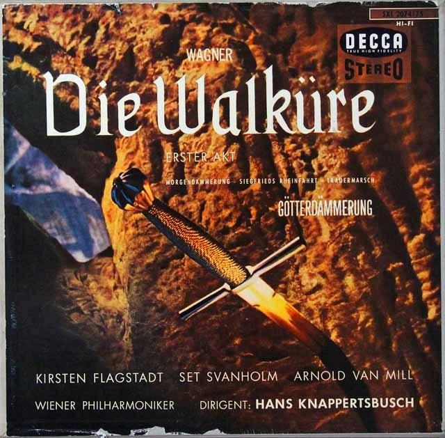 クナッパーツブッシュのワーグナー/「ワルキューレ」第1幕ほか 独DECCA 2812 LP レコード