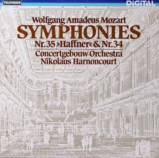アーノンクールのモーツァルト/交響曲第34&35番「ハフナー」 独TELEFUNKEN 3298 LP レコード
