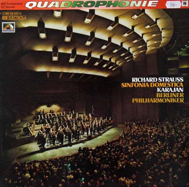 カラヤンのR.シュトラウス/家庭交響曲 独EMI 3298 LP レコード