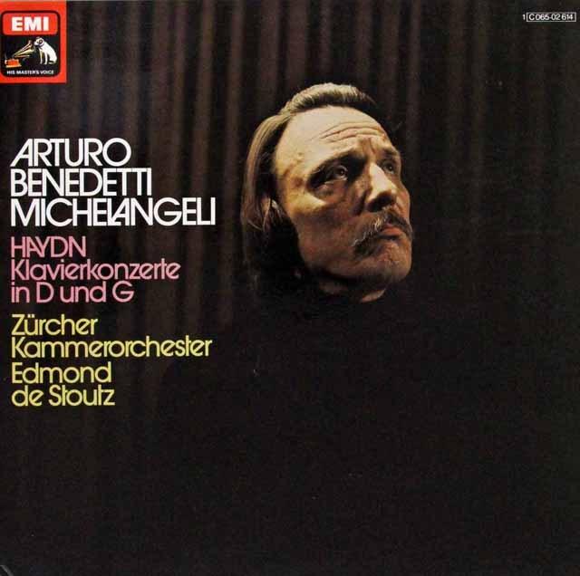 ミケランジェリのハイドン/ピアノ協奏曲集 独EMI 3298 LP レコード