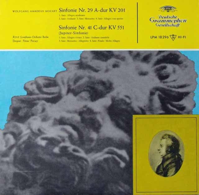 フリッチャイのモーツァルト/交響曲第29&41番「ジュピター」 独DGG 3298 LP レコード