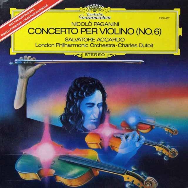 アッカルドのパガニーニ/ヴァイオリン協奏曲第6番 独DGG 2812 LP レコード