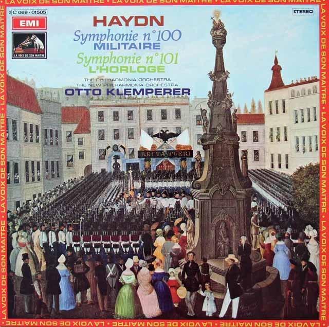 クレンペラーのハイドン/交響曲第100番「軍隊」&第101番「時計」 仏EMI(VSM) 3297 LP レコード