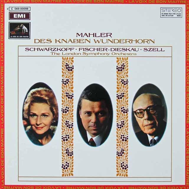 セルのマーラー/「子どもの不思議な角笛」 仏EMI(VSM) 2822 LP レコード